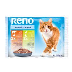 Reno alutasak macskáknak 4 x 100g baromfi + marha / baromfi + hal