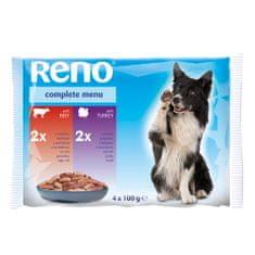 Reno kapsička pre psov 4 x 100g hovädzia + morka