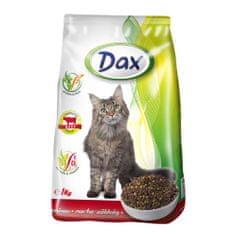 DAX Cat Dry 1kg Beef-Vegetables granulované krmivo pro kočky hovězí + zelenina
