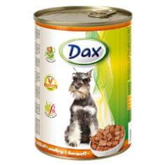 DAX konzerva pro psy 415g s drůbeží