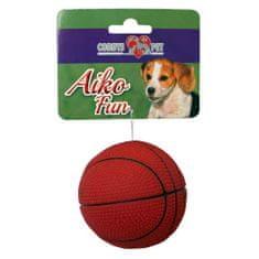 COBBYS PET AIKO FUN Basketbalový míč 7,3cm gumová hračka pro psy