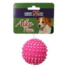 COBBYS PET AIKO FUN Lopta s pichliačmi 6,5cm gumená hračka pre psov