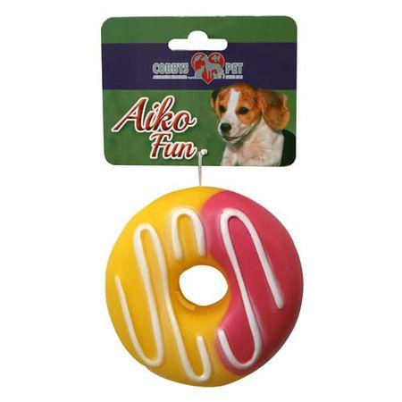 COBBYS PET AIKO FUN Fánk 10,3cm gumijáték kutyáknak