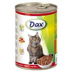DAX konzerva pre mačky 415g s hovädzím