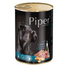 Piper ADULT 400g konzerv felnőtt kutyáknak bárányhússal, sárgarépával és barna rizzsel