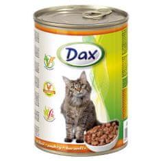 DAX konzerva pre mačky 415g s hydinou