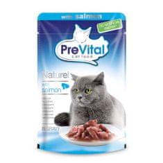 PreVital Naturel kapsičky pro kočky 85g losos v omáčce