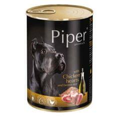 Piper ADULT 400g konzerv felnőtt kutyáknak csirkeszívvel és barna rizzsel