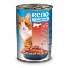 Reno konzerva pre mačky kúsky hovädzia 415g