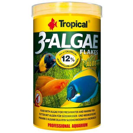 TROPICAL 3-Algae Flakes 1000ml/200g eledel édesvízi és tengeri halaknak algával