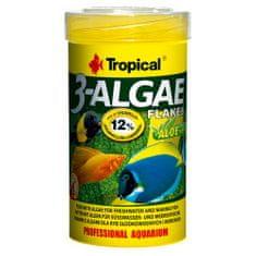 TROPICAL 3-Algae Flakes 100ml/20g eledel édesvízi és tengeri halaknak algával