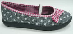 3F Prima 4LB-P/3 platnene papuče za djevojčice