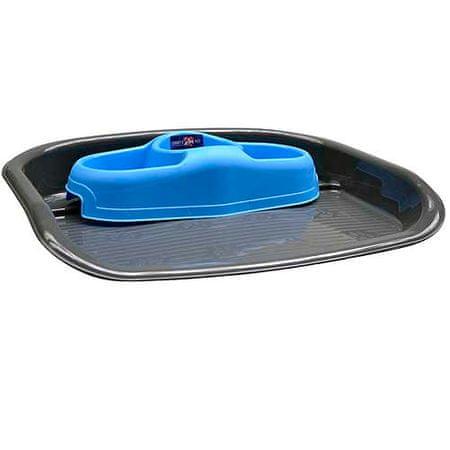 COBBYS PET Műanyag tálca háromrészes tállal 1l