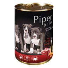 Piper JUNIOR 400g marhaszív és sárgarépa konzerv kölyökkutyáknak