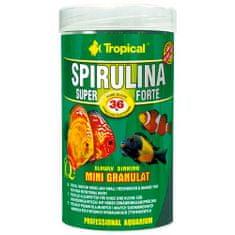 TROPICAL Super Spirulina Forte Mini Granulat 250ml/140g granulált apró szemcsés haltáp spirulinával