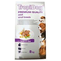 TROPIDOG Premium Adult Small 8kg jahňa s ryžou