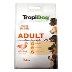 TROPIDOG Premium Adult Medium & Large 2,5kg kačacie s ryžou
