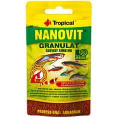 TROPICAL Nanovit Granulat 10g granulované krmivo pre malé akváriové ryby