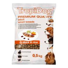 TROPIDOG Premium Adult Small 500g kačica s ryžou