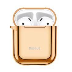 BASEUS Shining Hook silikonski ovitek za Airpods 1/2, zlat