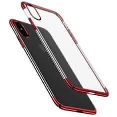 BASEUS Glitter plastové púzdro pre iPhone X/XS, červené