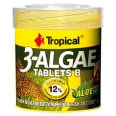 TROPICAL 3-Algae Tablets B 50ml/36g 200ks tabletové krmivo s riasami pre sladkovodné a morské ryby
