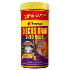 TROPICAL Discus Gran D-50 Plus 250ml/110g színélénkítő granulált haltáp diszkoszhalaknak