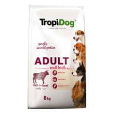 TROPIDOG Premium Adult Small 8kg hovädzie s ryžou