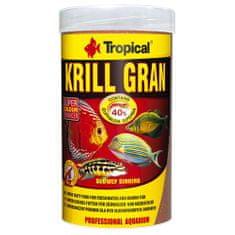 TROPICAL Krill Gran 250ml/135g többösszetevős színfokozó haltáp merülő granulátum formájában