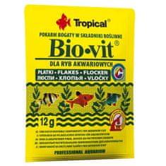 TROPICAL Bio-vit 12g krmivo s vysokým obsahom rastlinných zložiek pre akváriové ryby