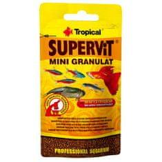 TROPICAL Supervit Mini Granulat 10g mnohosložkové krmivo pro akvarijní ryby