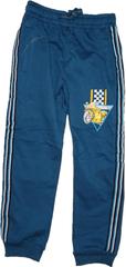 KUGO Chlapecké tepláky s motorkou modré.