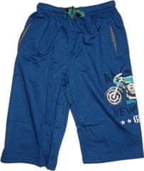KUGO Chlapecké kraťasy s motorkou modrá.