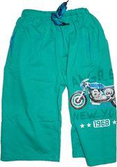 KUGO Chlapecké kraťasy s motorkou zelené.