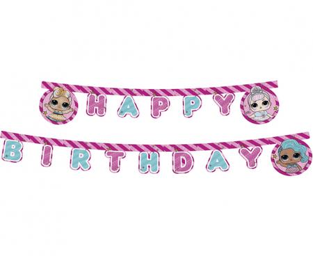 "GoDan Banner ""L.O.L. Surprise"" - Happy Birthday 210 cm"