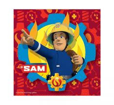 """GoDan Papír szalvéták party """"Tűzoltó Sam"""" 33x33cm - 20db"""