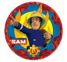 """GoDan Papír tányérok EKO """"Tűzoltó Sam"""" 23cm - 8 db"""