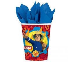 """GoDan Papír EKO party csészék """"Tűzoltó Sam"""" - 8db / 200ml"""