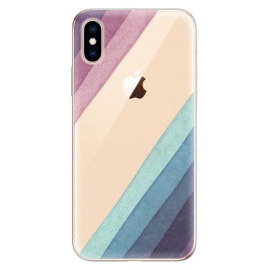 iSaprio Silikónové puzdro - Glitter Stripes 01 pre Apple iPhone XS