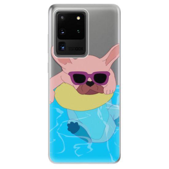 iSaprio Silikonové pouzdro - Swimming Dog pro Samsung Galaxy S20 Ultra