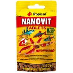 TROPICAL Nanovit Tablets 10g/70ks krmivo pre najmenšie druhy rýb s obsahom bielkovín