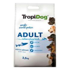 TROPIDOG Premium Adult Medium & Large 2,5kg losos
