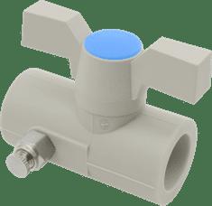 FV PLAST Guľový kohút plastový s odvzdušňovacím ventilom páka/motýľ d32 302032