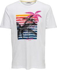 ONLY&SONS Pánske tričko ONSCALM SLIM SS TEE Bright White