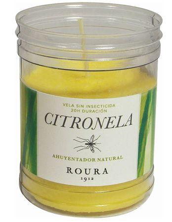 Roura Citronela sveča v lončku, 90 x 62 mm