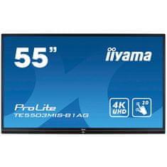 iiyama ProLite LED LCD interaktivni monitor, 139,7cm, IPS 4K UHD, na dotik, z zvočniki (TE5503MIS-B1AG)