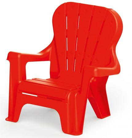 DOLU krzesło ogrodowe dla dzieci czerwone