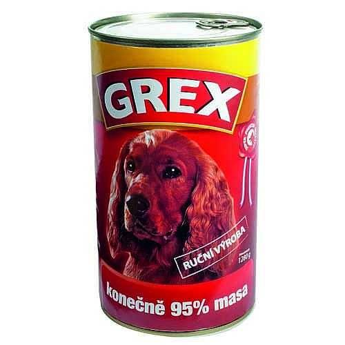 GRAND GREX SUPER PREMIUM Hovädzie 1.280g 100% mäsa hov.m.+bravčové m.+kuracie m.