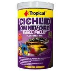 TROPICAL Cichlid Omnivore Small Pellet 1000ml/360g többösszetevős haltáp fiatal és kisméretű mindenevő sügéreknek