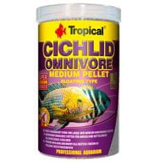 TROPICAL Cichlid Omnivore Medium Pellet 1000ml/360g többösszetevős haltáp közepes és nagy méretű mindenevő sügéreknek